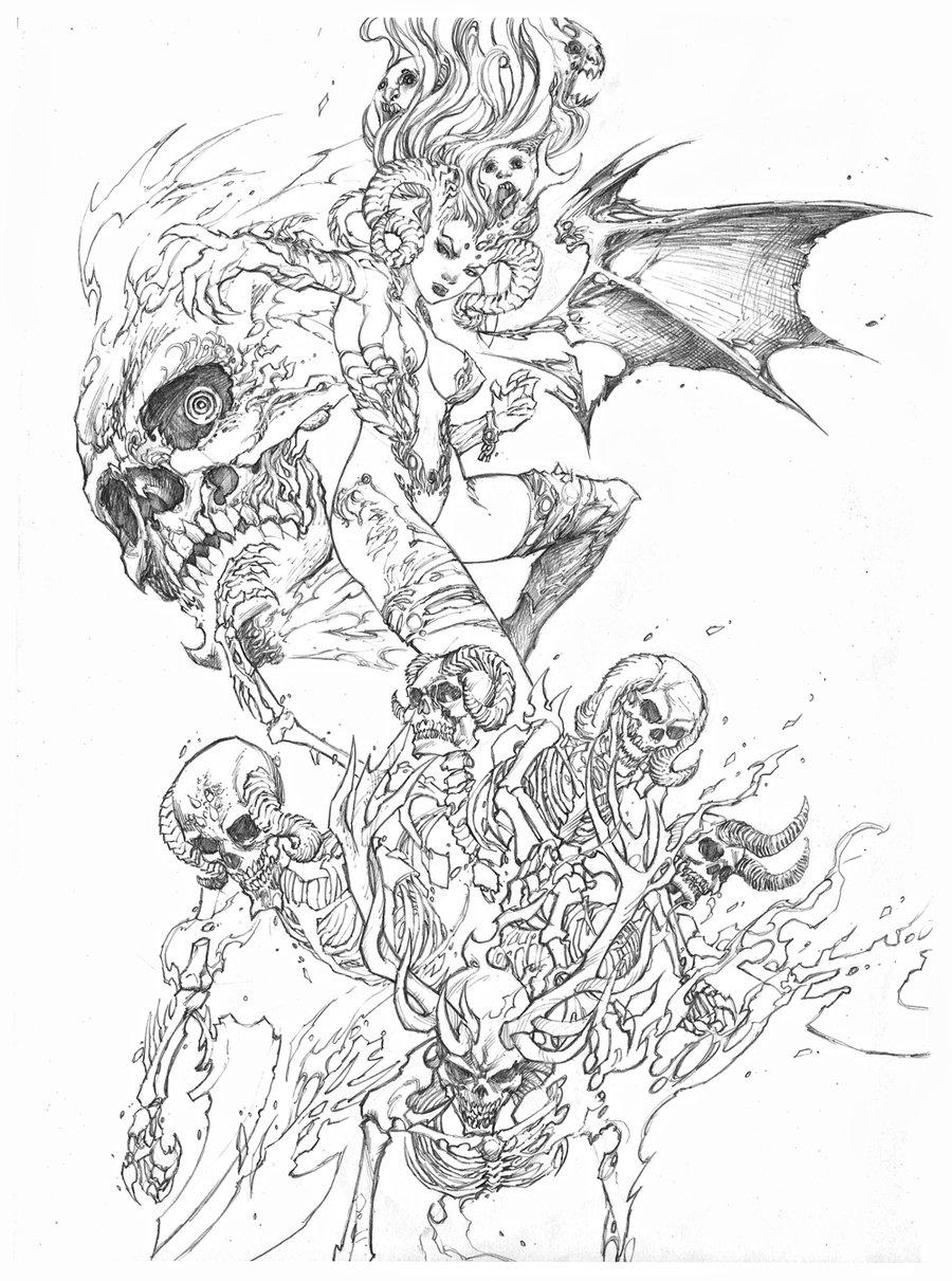 demon pencil drawing  Tumblr